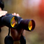 close up of binoculars