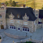 arial view of the highlands park mansion