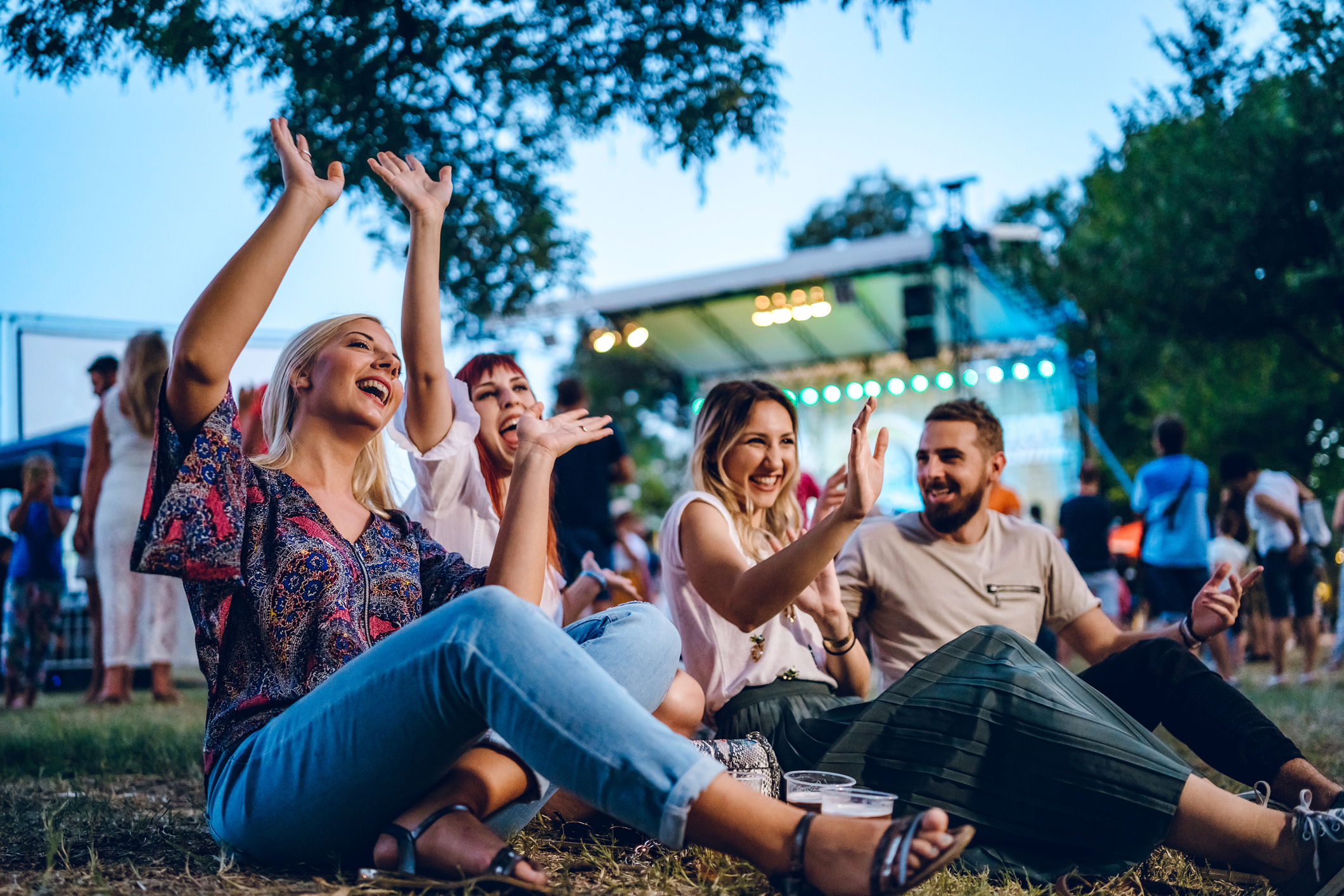 Outdoor concert venue for live entertainment near Lone Tree