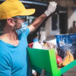 man delivering groceries for an online order