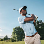 man playing golf on a sunny day | golf course near Lone Tree